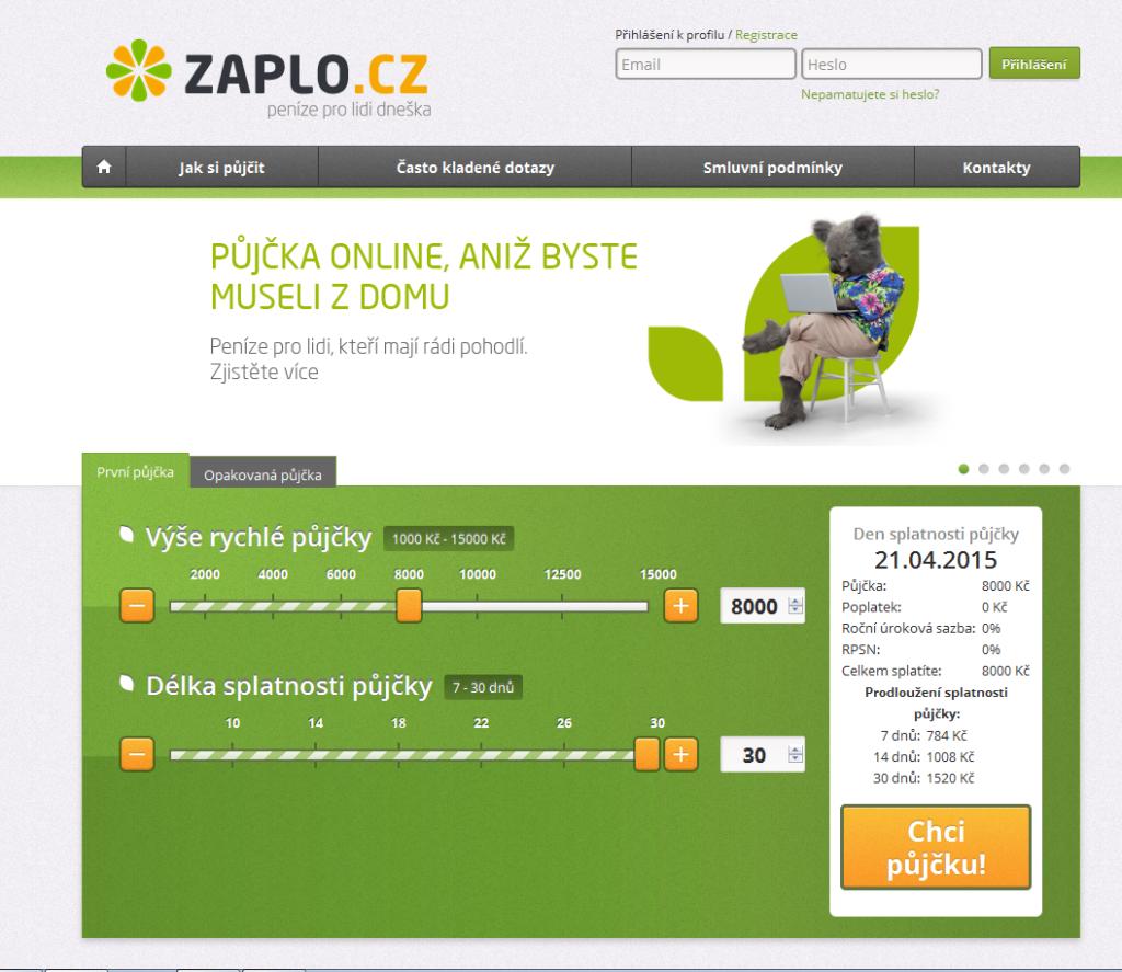 První půjčka zdarma od Zaplo.cz